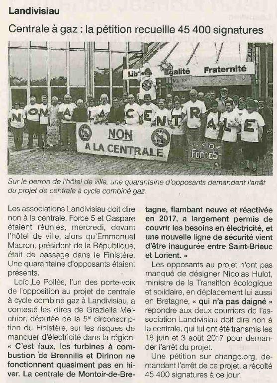 Ouest France 22-06-2018 (Page Landivisiau)