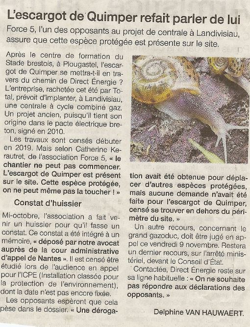 Ouest France 07-11-2018 (Page Bretagne)
