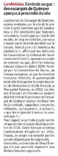 Le Télégramme 07-11-2018 (Page Bretagne)