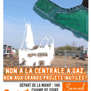 MANIFESTATION - Contre la centrale à gaz et contre les grands projets inutiles. Retrouvons nous le 4 mai à Landivisiau à 14h en fanfare ...