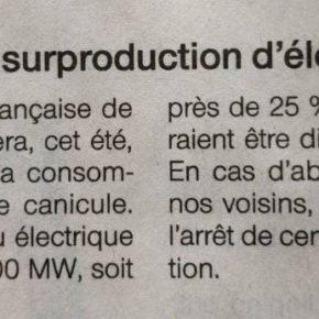 """""""Ils"""" nous promettaient un Black-out ! ...Nous sommes encore et toujours  en surproduction d'électricité (source RTE) !..."""