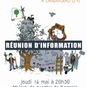 Réunion publique à LANDERNEAU. Jeudi 16 mai 20h30.